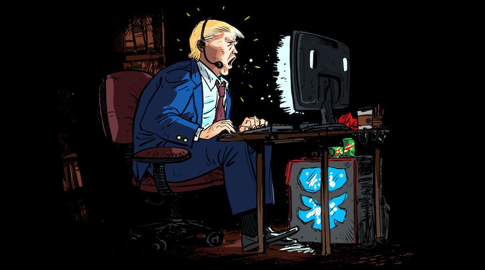 Donald Trump - mauvais joueur - parodie