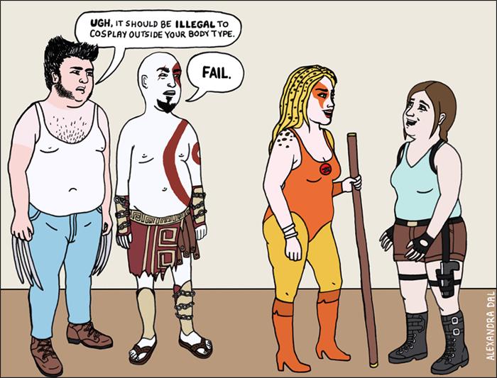Cosplay Shaming by Alexandra Dal