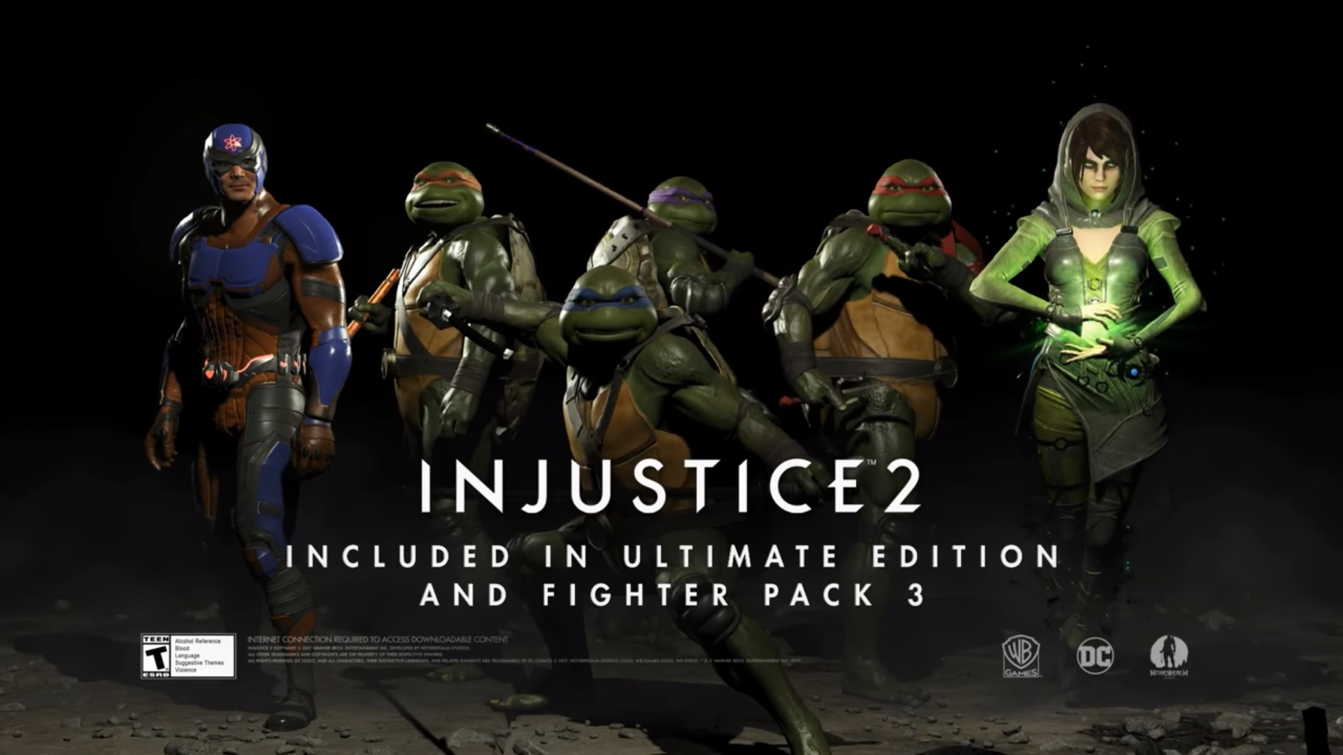 Injustice 2 Fighters Pack 3: Atom, Enchantress, Tennage Mutant Ninja Turtles