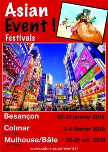 Salon Asian Event 2017 – le salon du Grand-Est Besançon, Colmar et Mulhouse -News jeux evenement