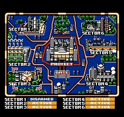 Power Blade NES - Selection du niveau