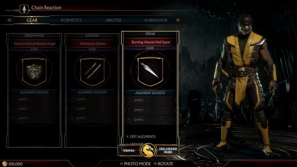 Présentation du mode Customisation dans Mortal Kombat 11