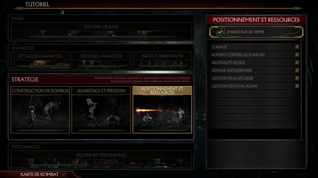 Le tutoriel dans MK11 offre tous les outils pour survivre.