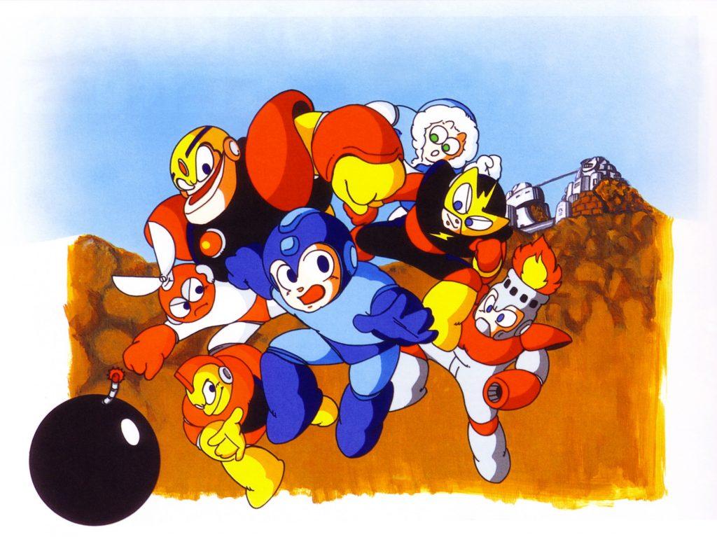 Artwork japonaise de Megaman 1 sur la NES (Décembre 1987)